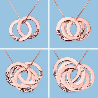 18K Rose Gold Plated Silver 925